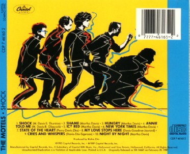 back photo of the Shock cd